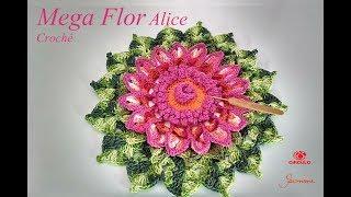Mega Flor De Crochê Alice - Professora Simone Eleotério