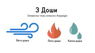 3 доши: Вата, Питта, Капха