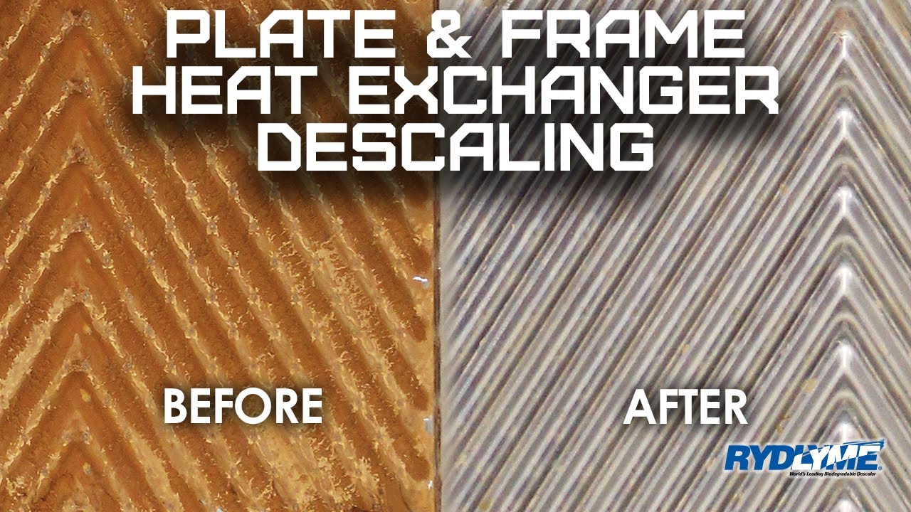 Plate and Frame Heat Exchanger Descaling with RYDLYME Biodegradable Descaler