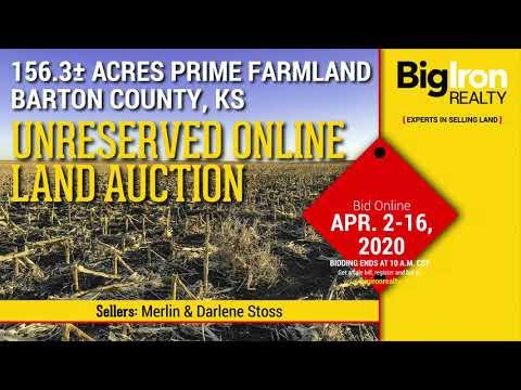 Land Auction 156.3+/- Acres Barton County, KS