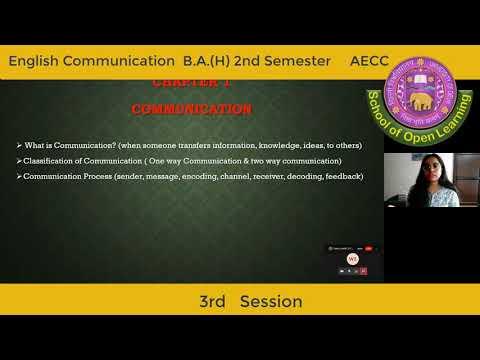 ENGLISH COMMUNICATION - 3RD SESSION By - MS KOMAL
