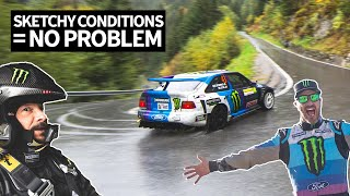 Ken Block Goes Flat Out in 6th Gear Through Fog And Rain in the Swiss Alps With Neil Cole!