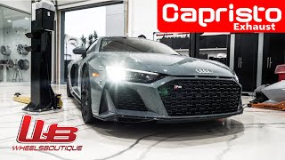 2020 AUDI R8 CAPRISTO EXHAUST BEFORE AND AFTER