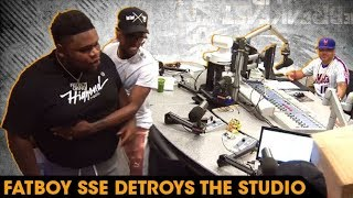 Fatboy SSE Destroys The Breakfast Club Studio When He Realizes There's No Breakfast