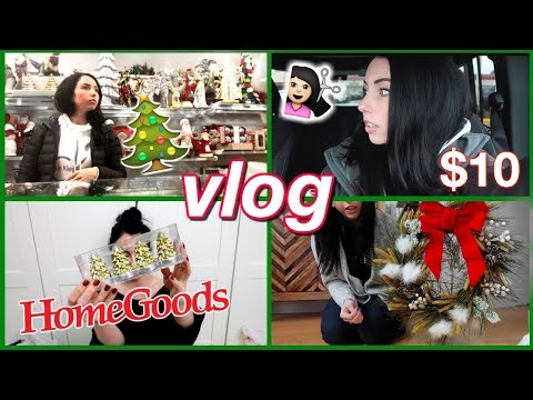 Haircut, Holiday Decor Shopping! HomeGoods, $10 DIY Wreath, Behind The Scenes Filming...WEEK VLOG!