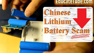 Cheap Chinese Lithium Battery Power Pack Scam Surprise - Fake Lithium Battery
