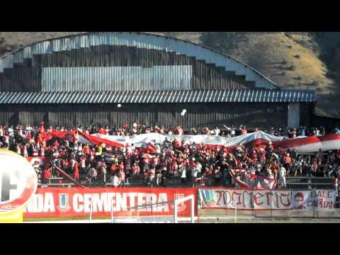 """""""Recibimiento al Equipo Copa Chile 2009-2010"""" Barra: La Banda Cementera • Club: Unión La Calera"""