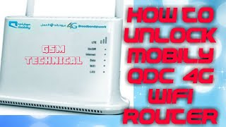 how to unlock mobily 4g connect router modem qdc model