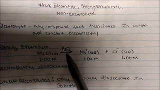 Weak Vs Strong Electrolyte And Non Electrolyte
