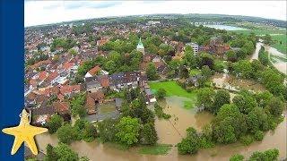preview picture of video 'Flut und Hochwasser 2013: Rundflug über Sarstedt - die Stadt in der Innerste'