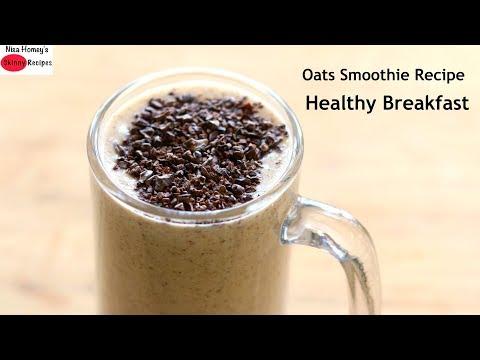 Oats Breakfast Smoothie Recipe - Oats Recipes For Weight Loss - Vegan (No Milk)   Skinny Recipes