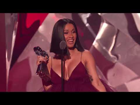 Cardi B Acceptance Speech - Best New Artist | 2018 iHeartRadio Music Awards