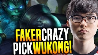 Faker Goes Crazy and Picks Wukong! - SKT T1 Faker SoloQ Playing Wukong Jungle! | SKT T1 Replays
