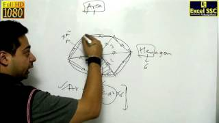 IMPORTANT: AREA OF HEXAGON - SSC CGL Tutorial Lesson  (Excel SSC Coaching Classes)