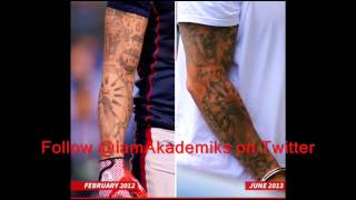 Aaron Hernandez Tatted Clues to Double Murder On Himself!