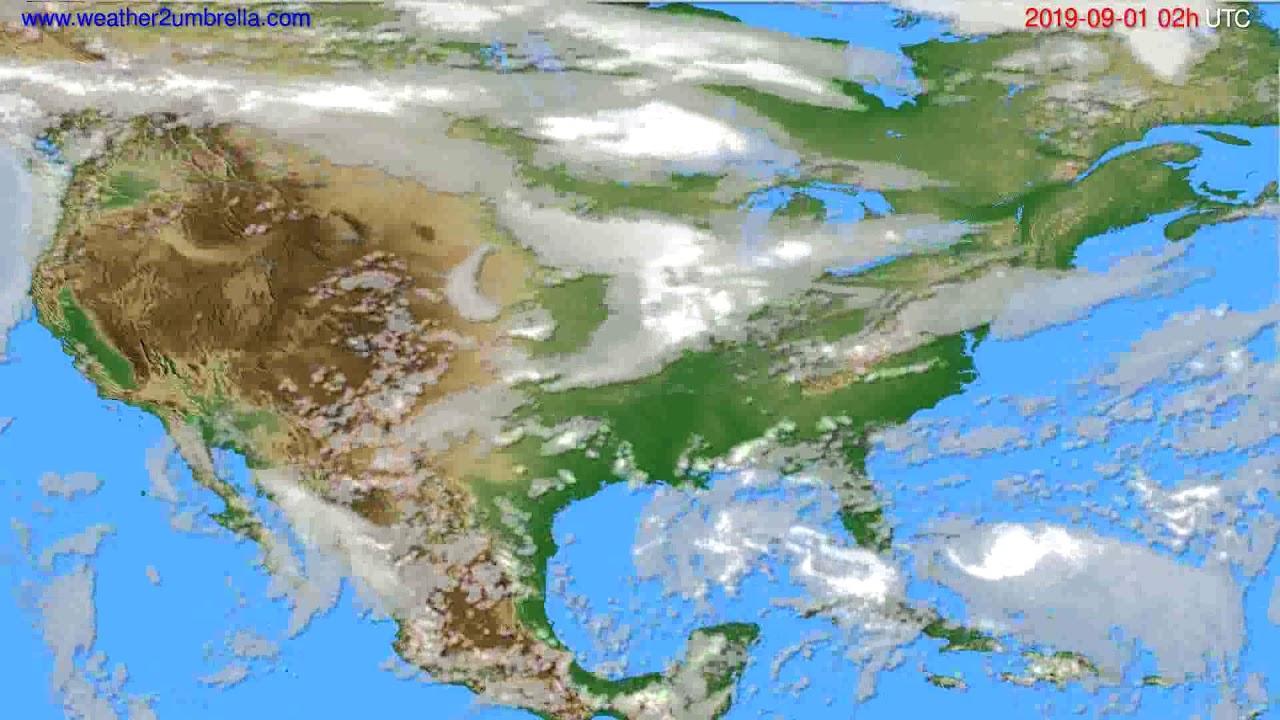Cloud forecast USA & Canada // modelrun: 00h UTC 2019-08-30