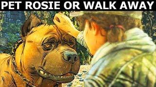 Pet Rosie Or Walk Away - Alternative Choices - The Walking Dead Final Season 4 Episode 2