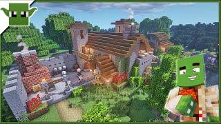 Minecraft Medieval Blacksmith Building Tutorial Easy Starter Materials #3 MinecraftVideos TV