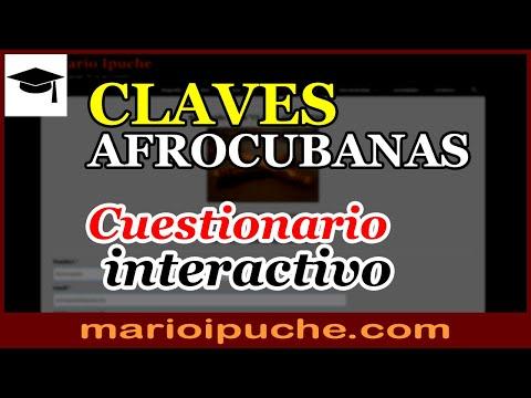 🎓 CLAVES AFROCUBANAS - Test interactivo - 2019