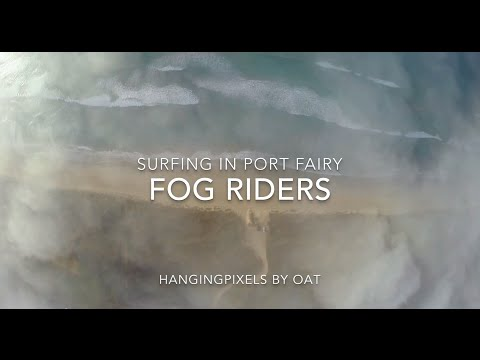 Drone footage of foggy session at Port Fairy