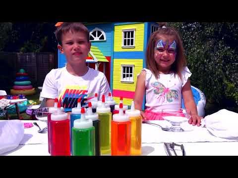 3 цВЕтА тОппИНг и мОрОЖЕНое ЧЕЛлЕНдЖ или 3 colors ice cream topping CHALLENGE (видео)