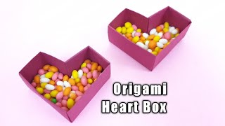 Origami Heart Box | Easy Paper Crafts | Candy Box | Paper Gift Box Easy | Back To School DIY