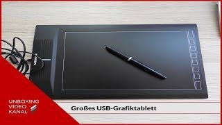 Großes USB-Grafiktablett - Unboxing Video