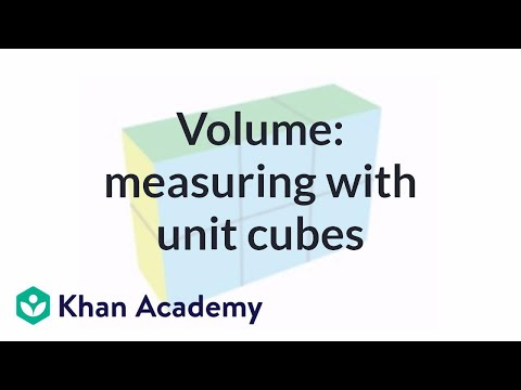 Measuring volume with unit cubes (video) | Khan Academy