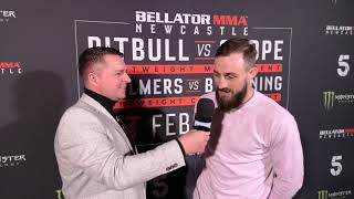 Interview with Dean Trueman at Bellator Newcastle