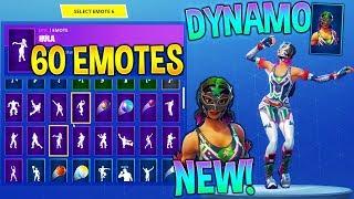 *NEW* DYNAMO SKIN With +60 FORTNITE DANCE EMOTES! (New Skin)