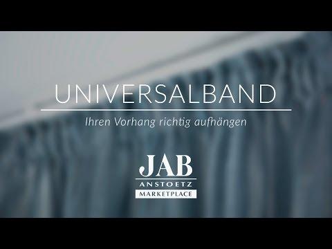 Vorhang mit Universalband richtig aufhängen - JAB ANSTOETZ Onlineshop