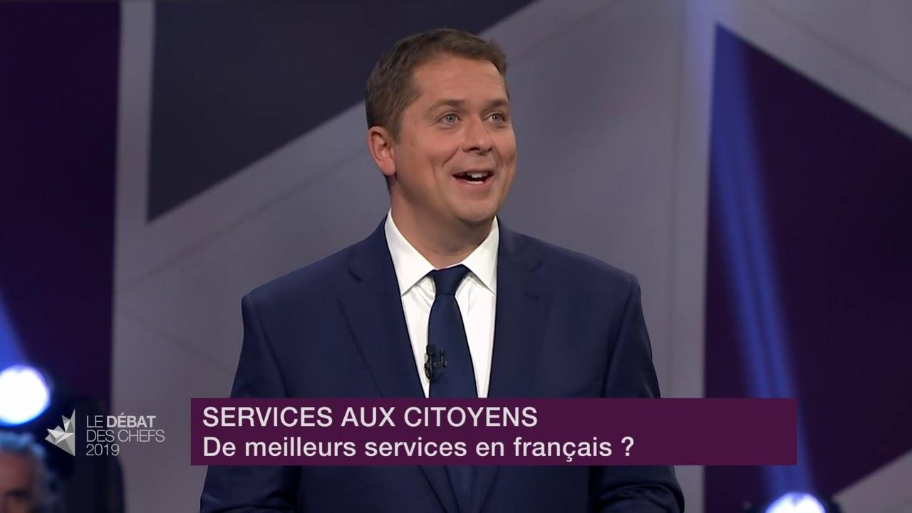 Andrew Scheer répond à la question d'un citoyen sur les services en français