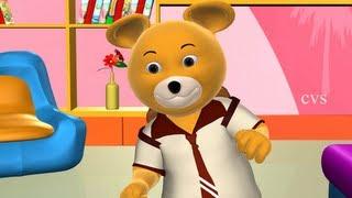 Teddy Bear Teddy Bear turn around - 3D Animation English Nursery rhyme song for children