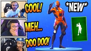 """STREAMERS REACT TO *NEW* """"FINGER WAG"""" EMOTE/DANCE! Fortnite SAVAGE & FUNNY Moments"""