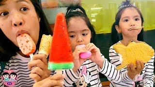 หนูยิ้มหนูแย้ม | กินไอติมญี่ปุ่น 5แบบ Japanese Ice Cream
