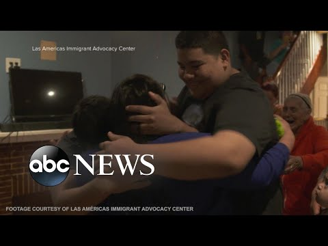 Mothers reunited with sons after years separated by former administration's immigration policy
