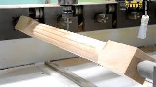 Обработка заготовки из массива дерева на токарном ЧПУ станке