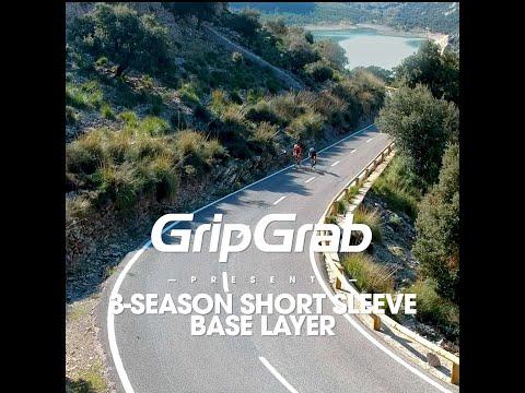 GripGrab 3-season svedundertrøje med korte ærmer sort video