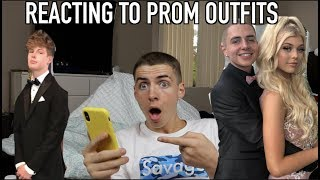 REACTING TO INSTAGRAM PROM OUTFITS | Zach Clayton