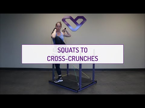 Squats to Cross Crunches