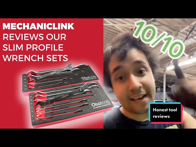 Youtube Video for Slim Profile Wrench Set by Mechanic Link