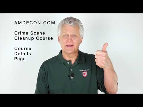 Crime Scene Clean Up Training Course Details - YouTube