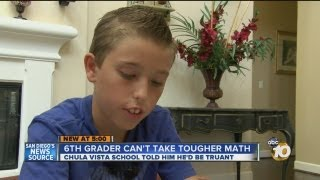 Local 6th grader told he cannot take 8th grade algebra: School says boy would be truant