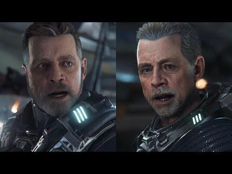Comparaison vidéo du personnage de Mark Hamill de Star Citizen