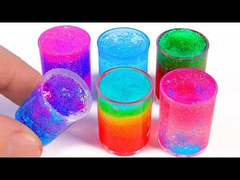 4 DIY Miniature Clear Slimes