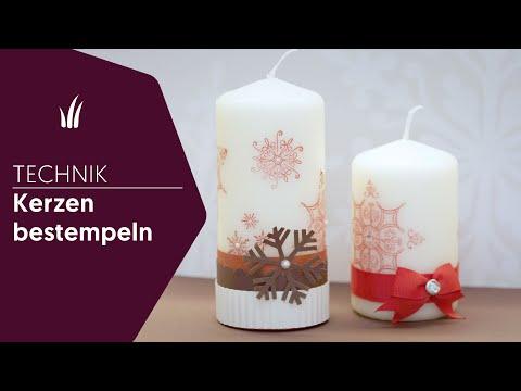 TECHNIK - Kerzen bestempeln