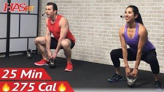 25 Min Beginner Kettlebell Workout for Fat Loss - Kettlebell Workouts for Beginners Men & Women by HASfit