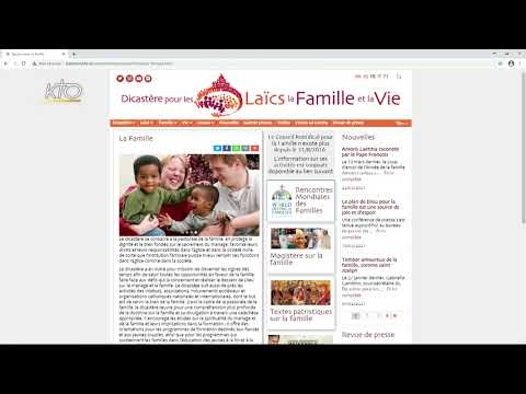 Le site web du Dicastère pour les Laïcs, la Famille et la Vie