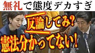 面白国会中継山尾志桜里vs安倍総理!総理に向かって「反論してみ?総理は憲法わかってない」真実と幻想と