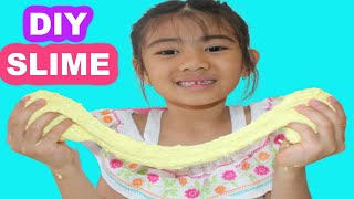 DIY SLIME! How to make Yellow Slime with Floam!